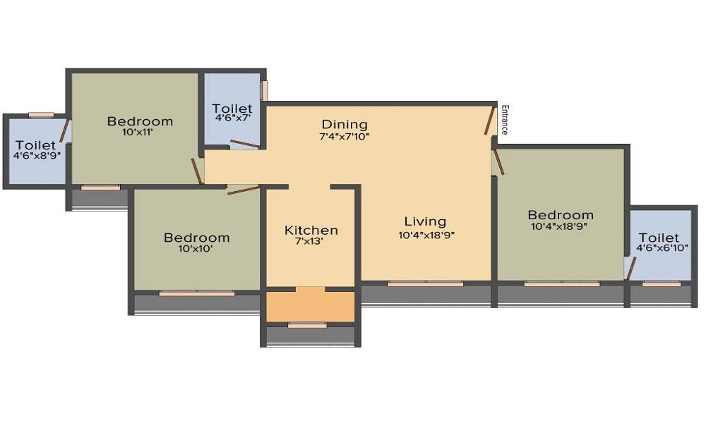 Goyal Orchid Pride Floor Plan