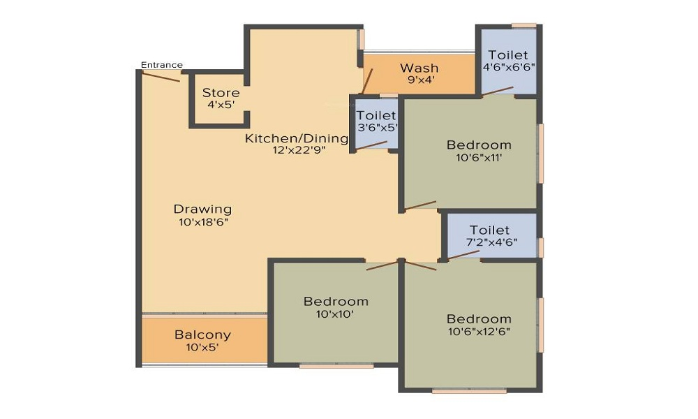 Shaligram Garden Residency II Floor Plan