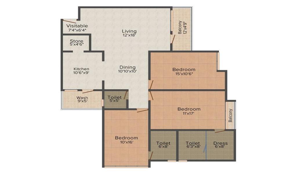 JP Iscon Platinum Floor Plan
