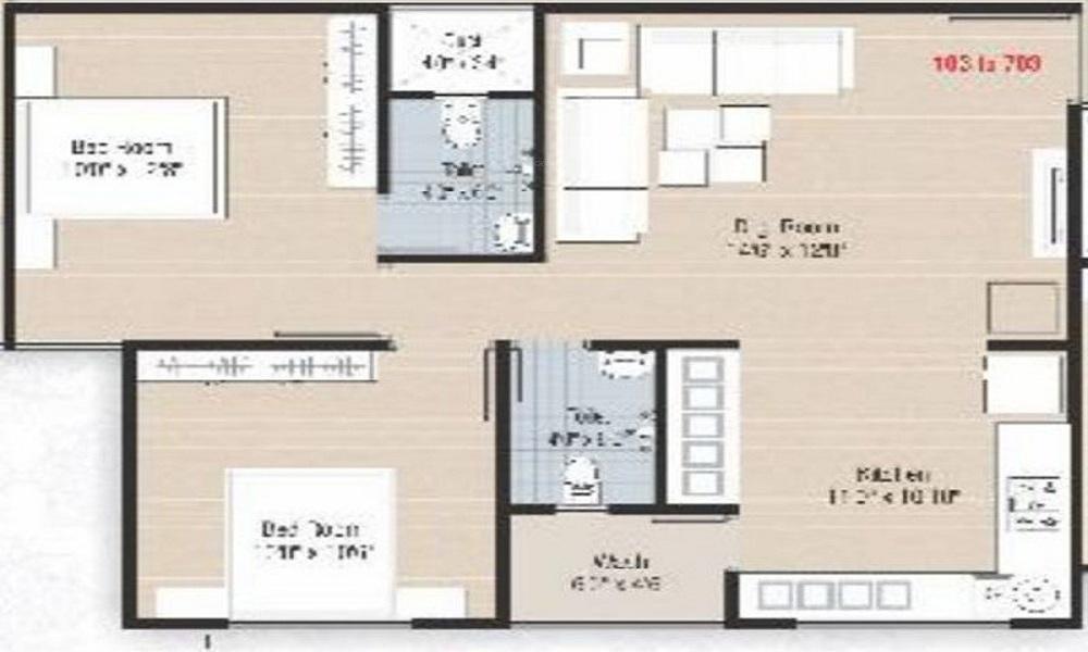 Shiv Pratham Luxuria Floor Plan