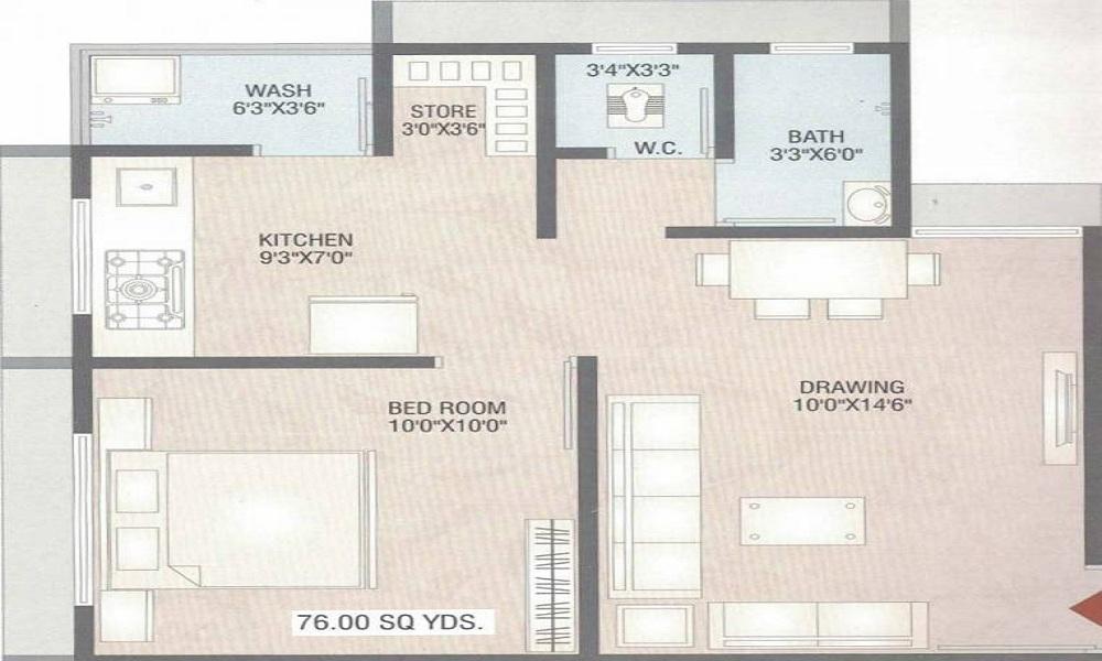 RO Radhe Om City Floor Plan