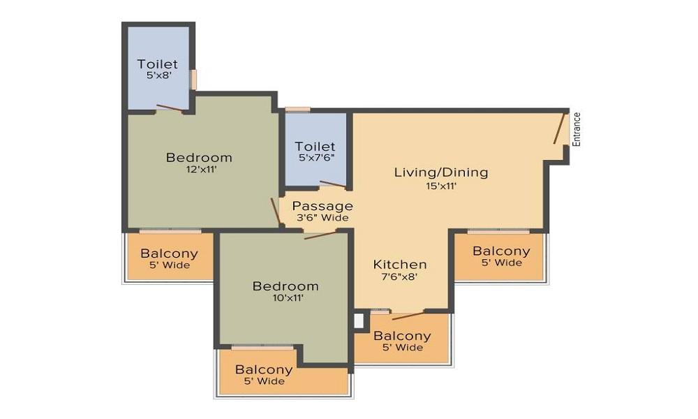 Gulshan Botnia Floor Plan