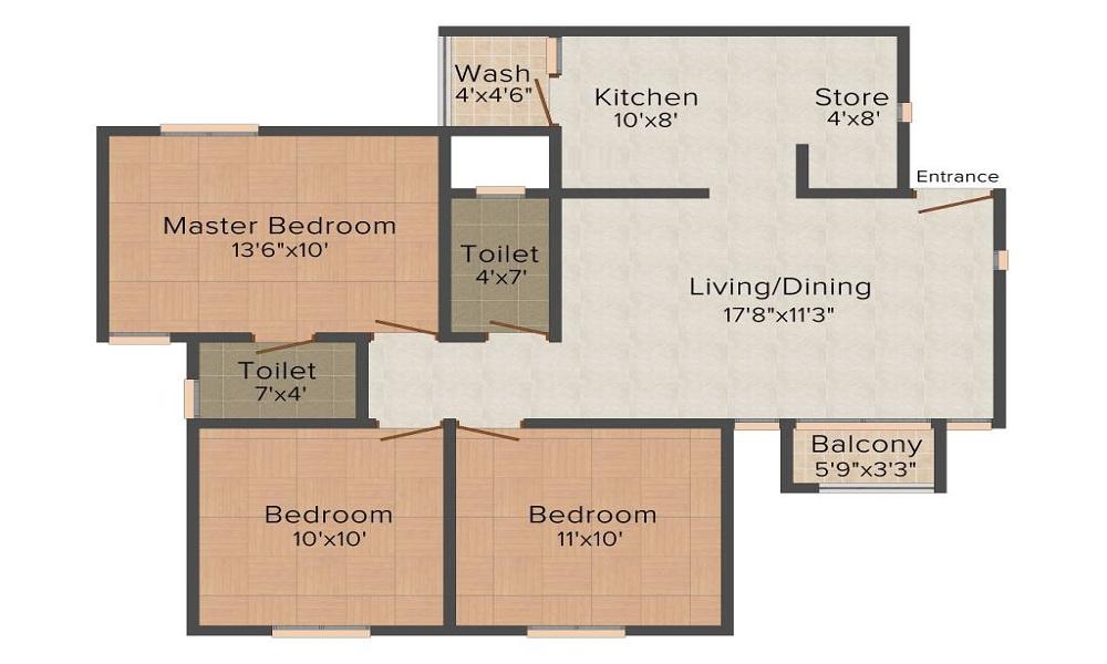 Laxmi Sky City Floor Plan
