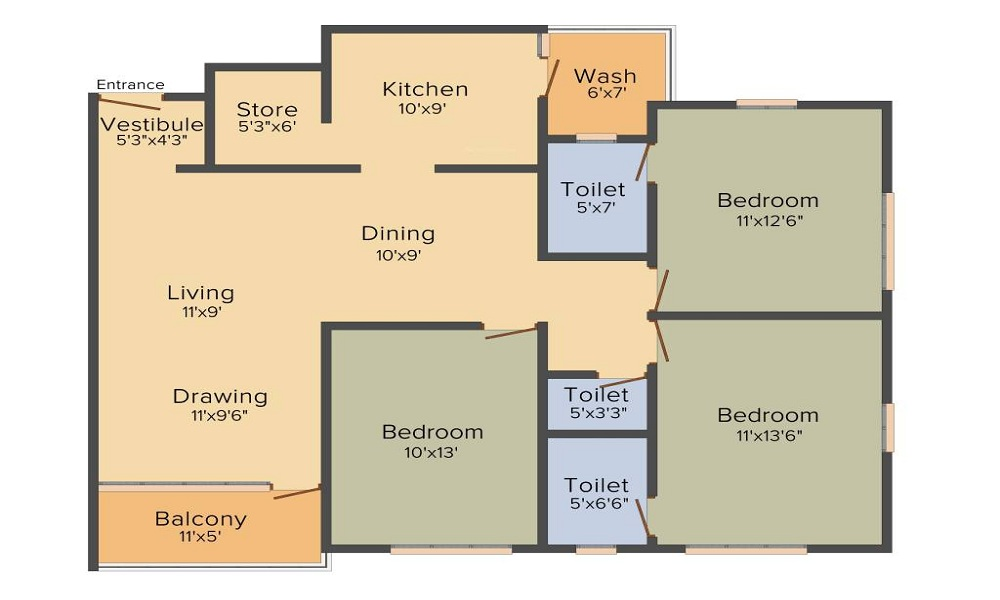Arjun Spacia Floor Plan