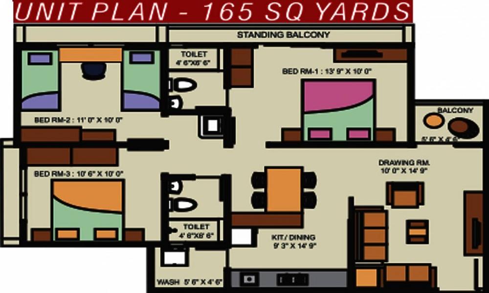 Nidhi Kuber Heights Floor Plan