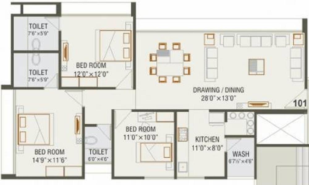 Magnolia Residency Floor Plan