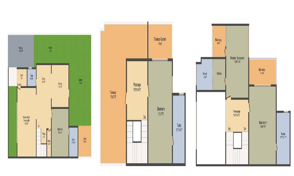 DLH Swastik Palazzo Floor Plan