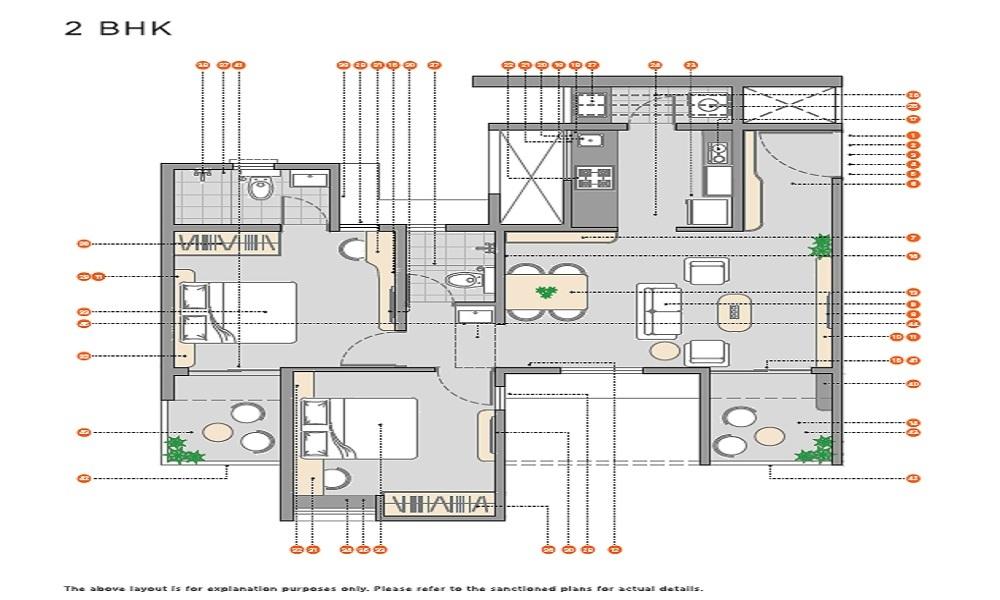 Vilas Javdekar Yashwin Encore Floor Plan