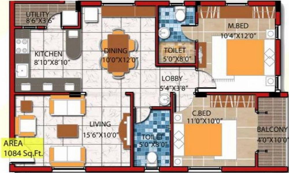 Nagamani Sai Sunshine Floor Plan