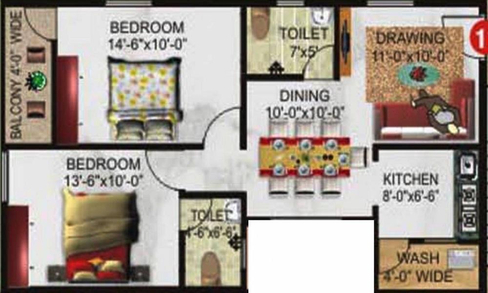 Excel Florance Floor Plan