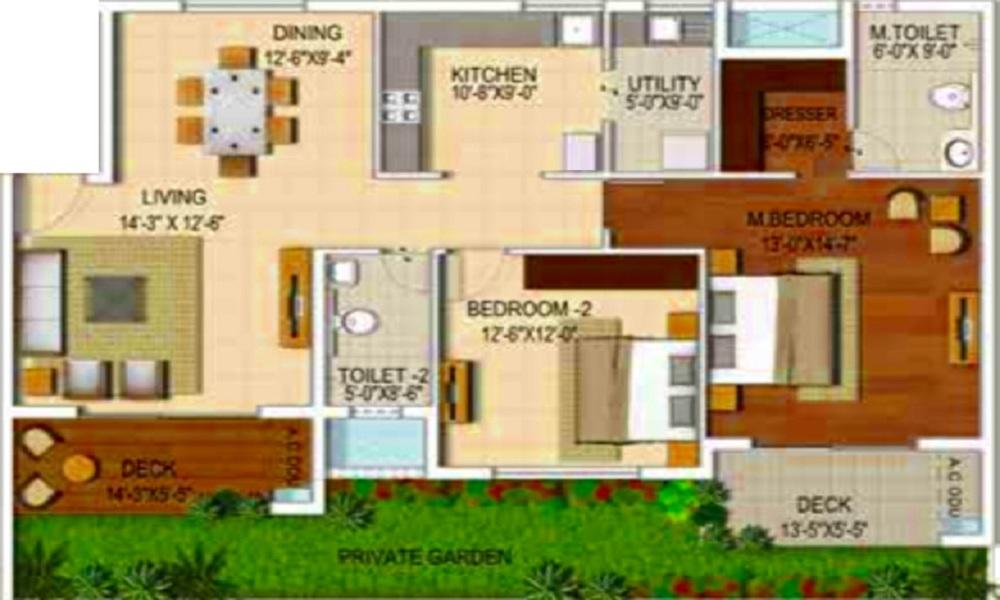 Ozone Urbana Alcove Floor Plan