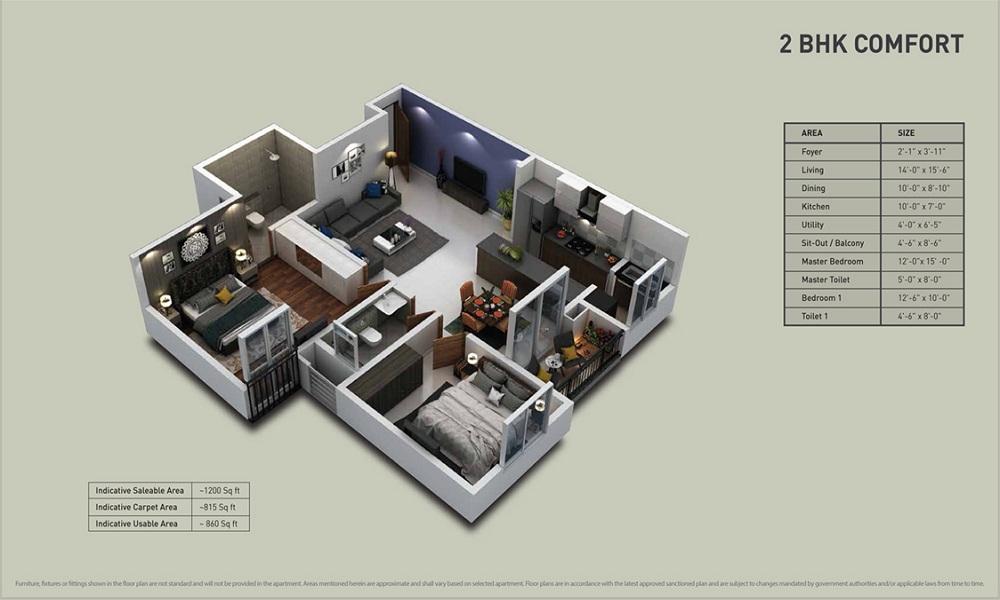 Purva Zenium Floor Plan
