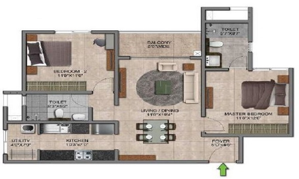 Prestige Smart City Floor Plan
