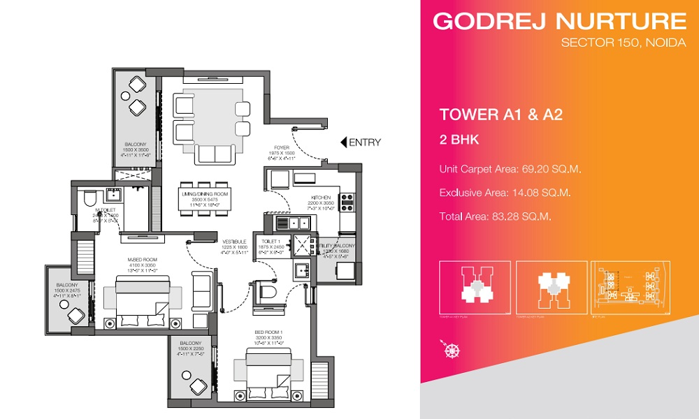Godrej Nurture Phase 1 Floor Plan