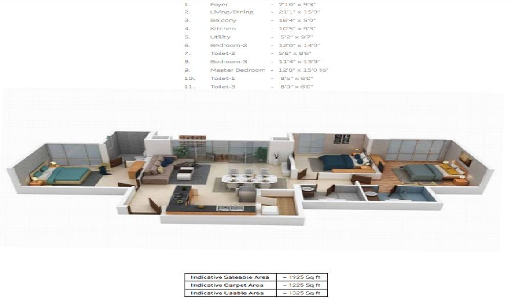 Purva Somerset House Floor Plan
