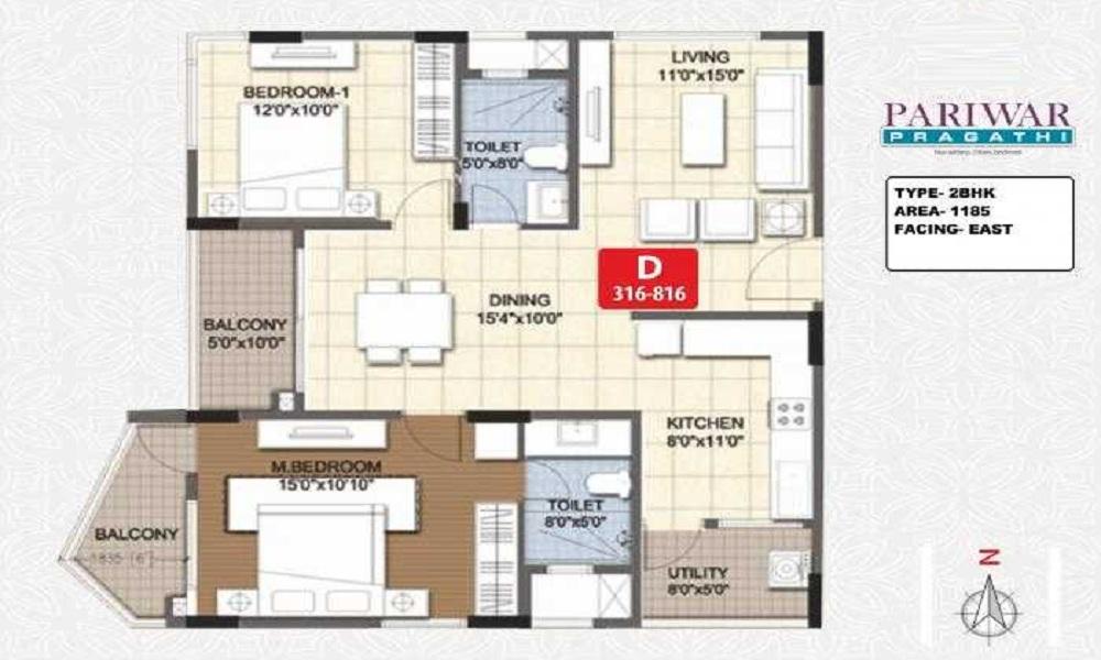 Pariwar Pragathi Floor Plan