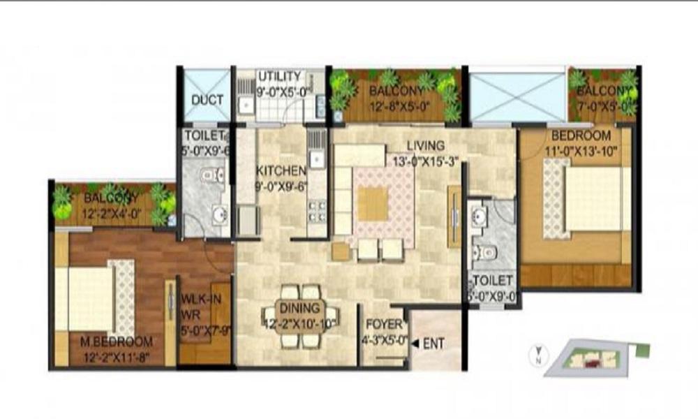 Rajarajeshware Manikchand 117 FF Floor Plan