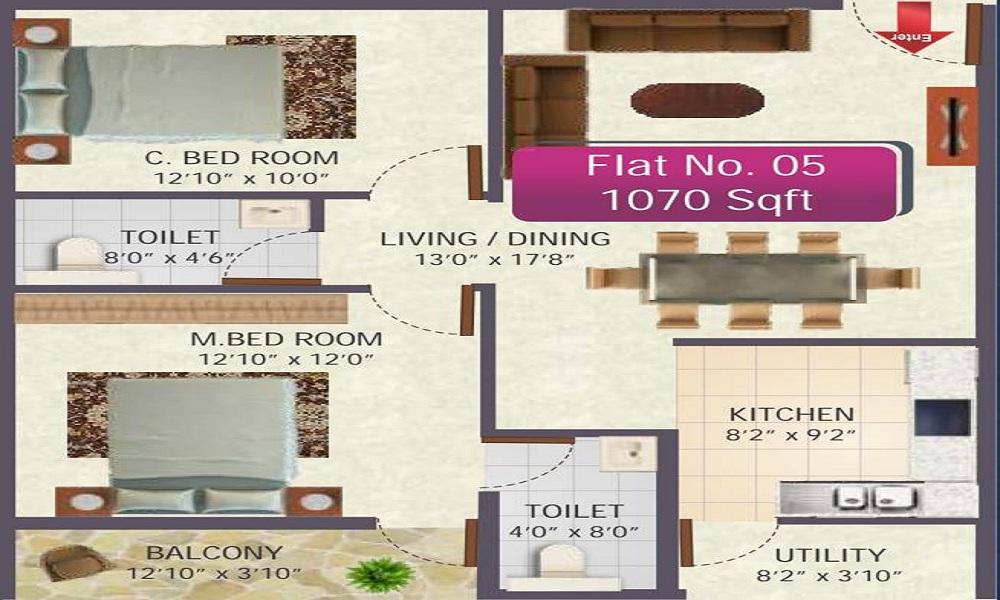 SR Sai Ram Residency Floor Plan