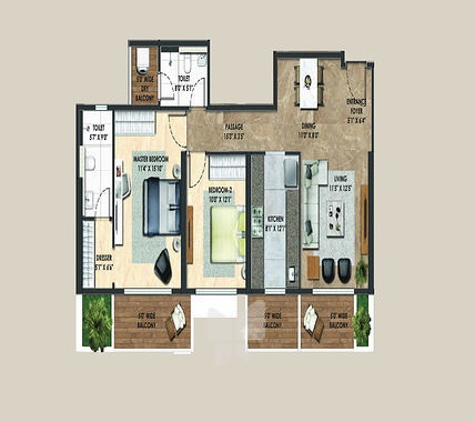 Adani Atelier Greens Floor Plan