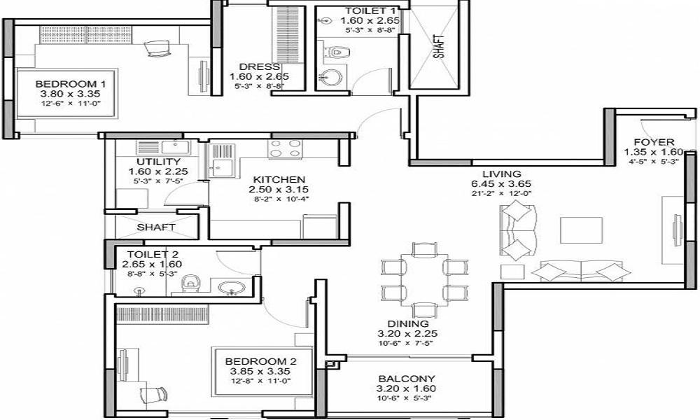 Sobha Palm Court Floor Plan