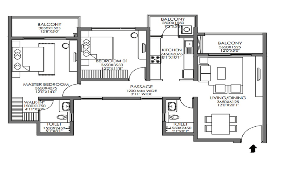 Godrej Habitat Floor Plan