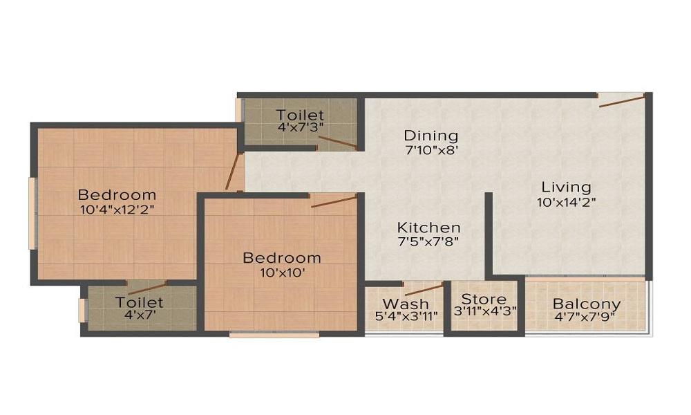 Aroma Aakruti Elegance Floor Plan