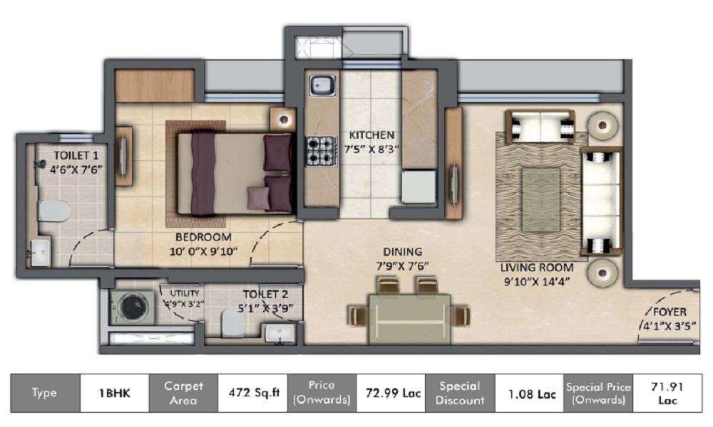 Lodha Amara Floor Plan