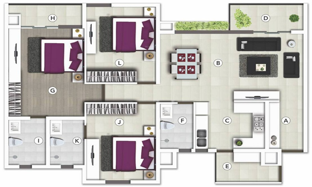 SJR Vogue Residency Floor Plan