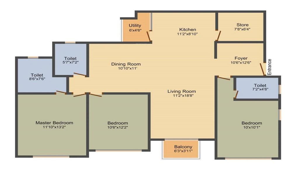 G Corp Mahalakshmi Floor Plan