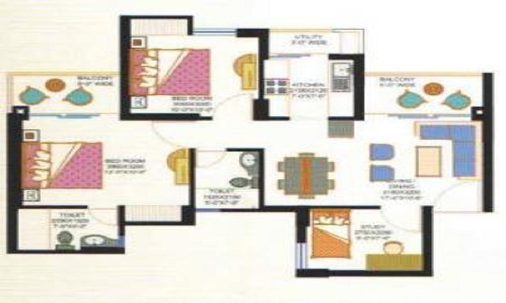 Eros Sampoornam Phase 2 Floor Plan