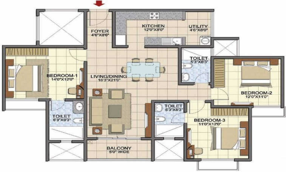 Prestige Song Of The South Phase 2 Floor Plan