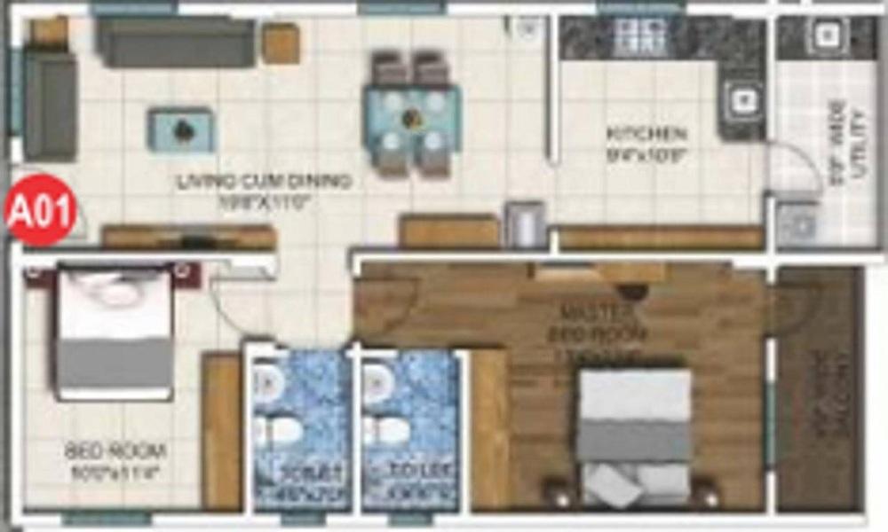 DSR White Waters II Floor Plan