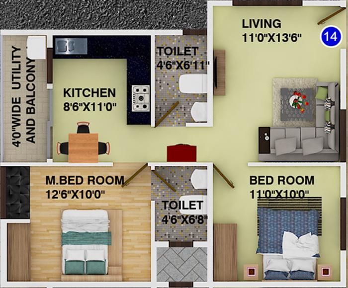 DS Max Sonata Floor Plan