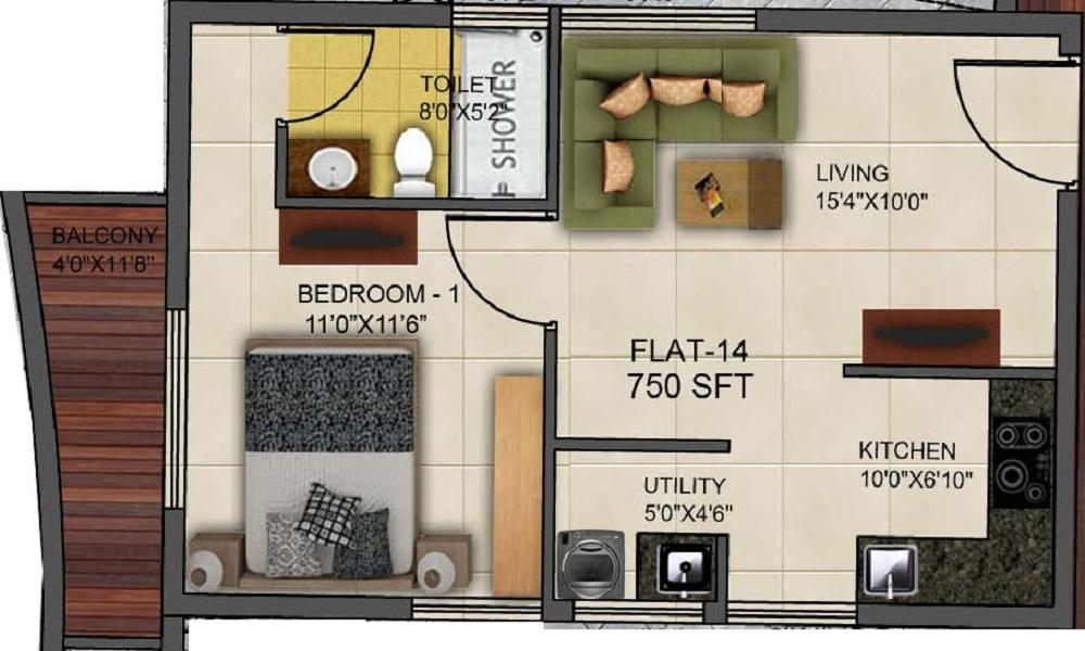 Kritan Ira Floor Plan