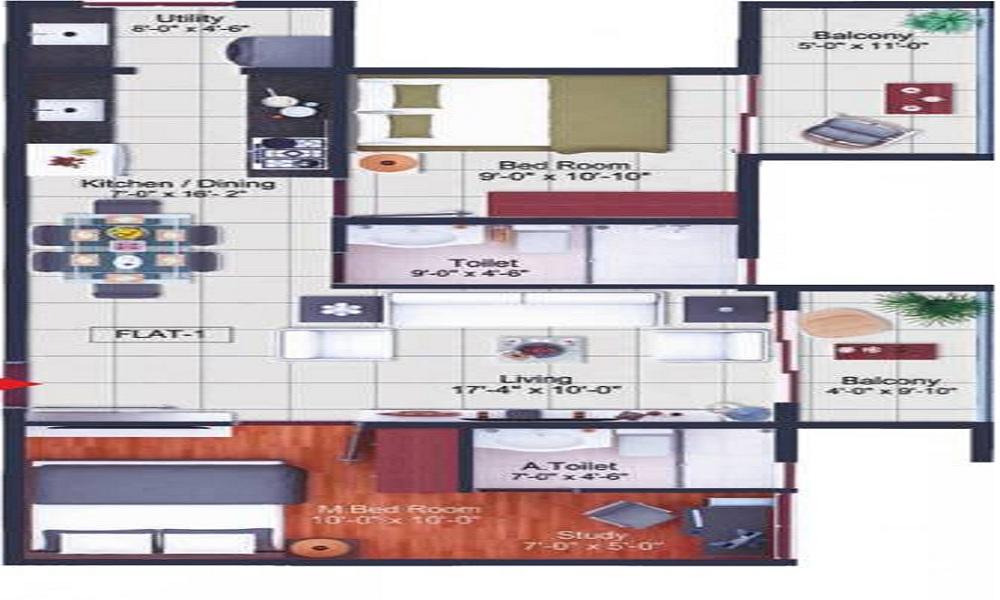 Poorvi Srinivasa Grand Floor Plan