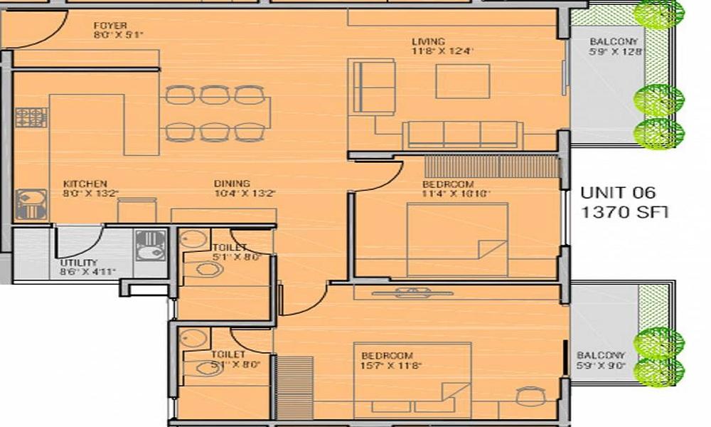 Pristine Hi Life Floor Plan