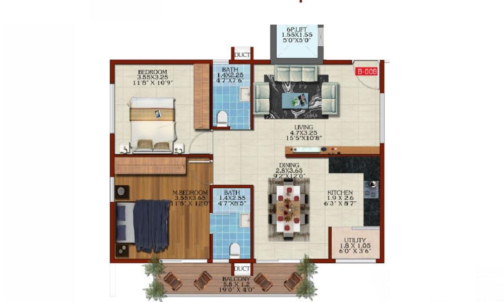 Estella Maple Square A Floor Plan