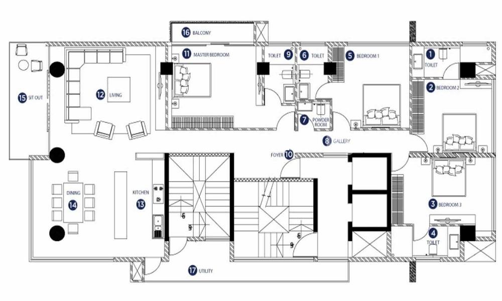 SKAV Bliss Floor Plan
