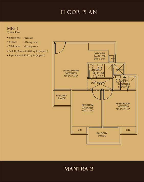 Mahagun Mantra 2 Floor Plan