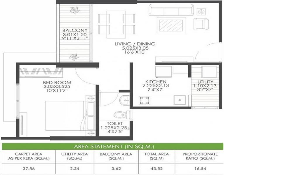 Gagan Aviva Floor Plan