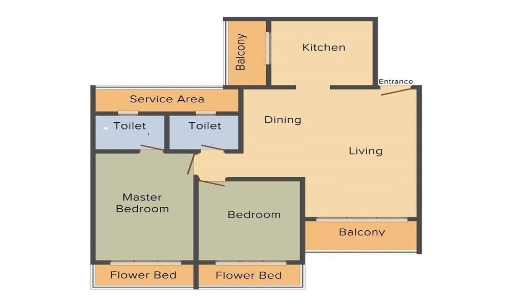 Saheel Itrend Homes Phase II Wing B Floor Plan