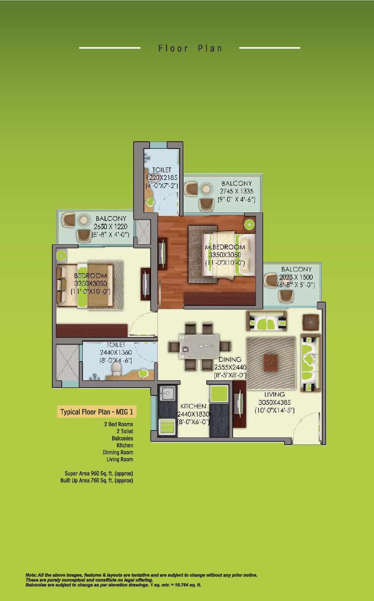 Mahagun Mywoods Phase III Floor Plan