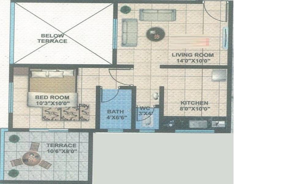 Om Krishna Kamal Serenity Floor Plan