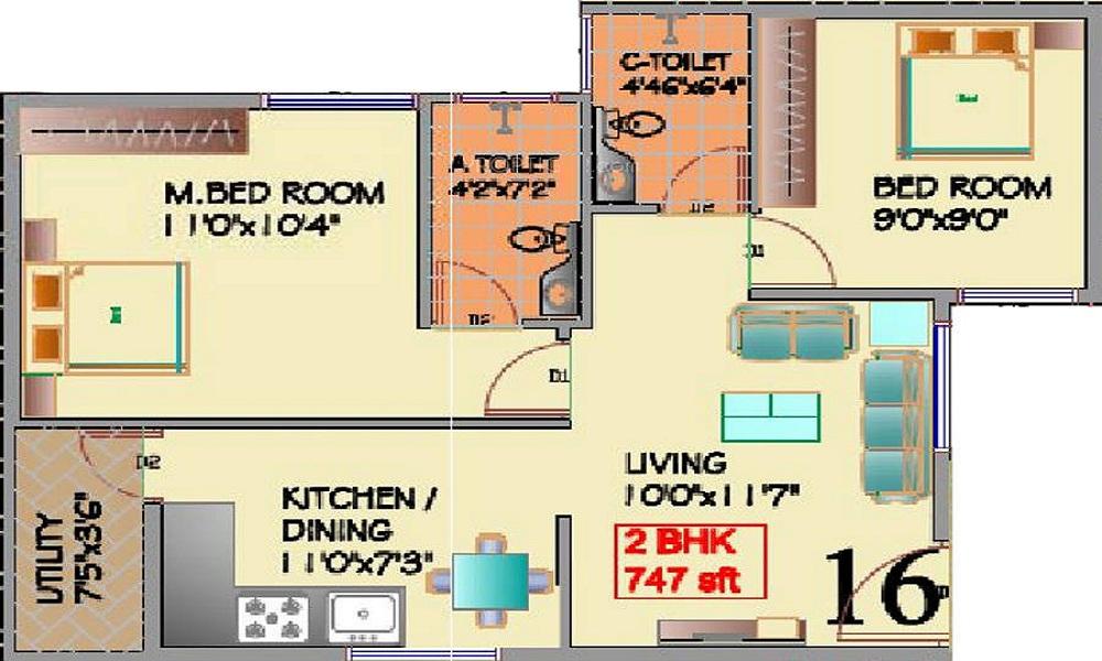 Keystone Sri Sai Residency Floor Plan