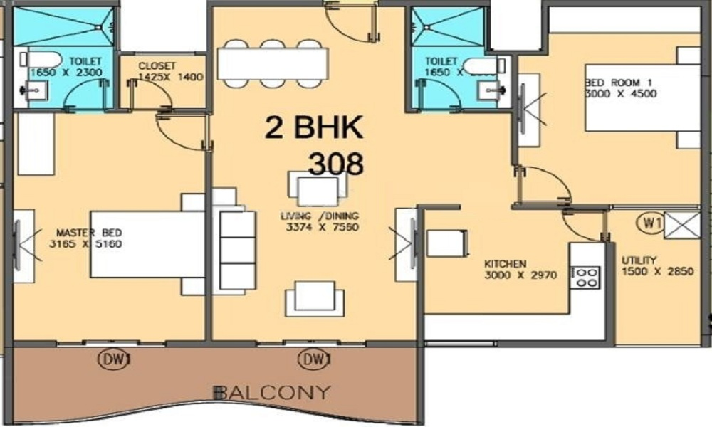 V5 Alpha Emerald Floor Plan