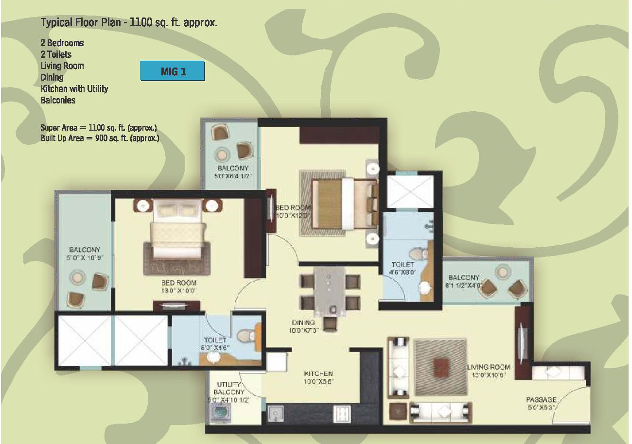 Mahagun Mywoods Phase II Floor Plan