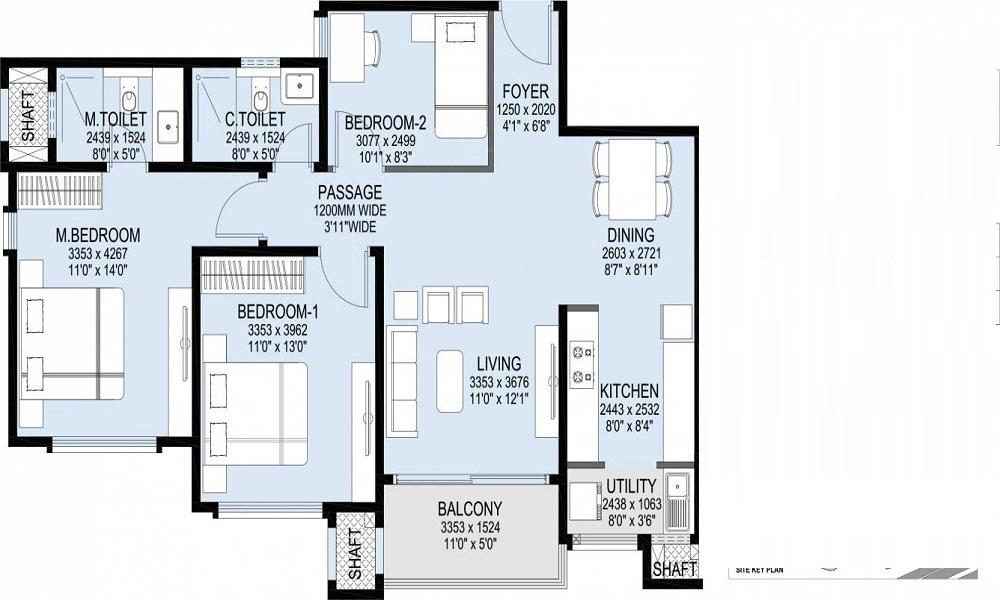 L&T Raintree Boulevard Phase 2 Floor Plan