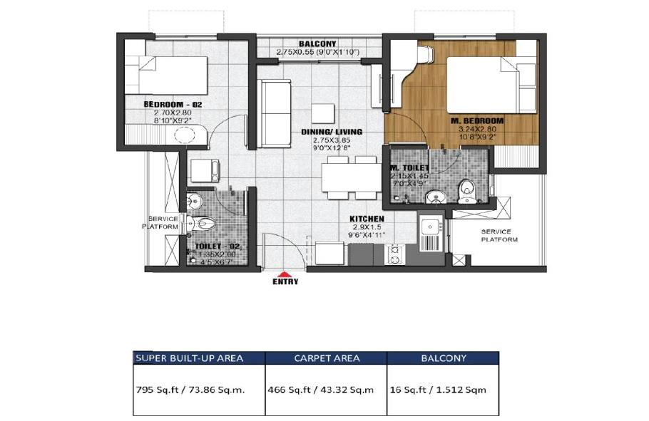 Brigade Eldorado Floor Plan