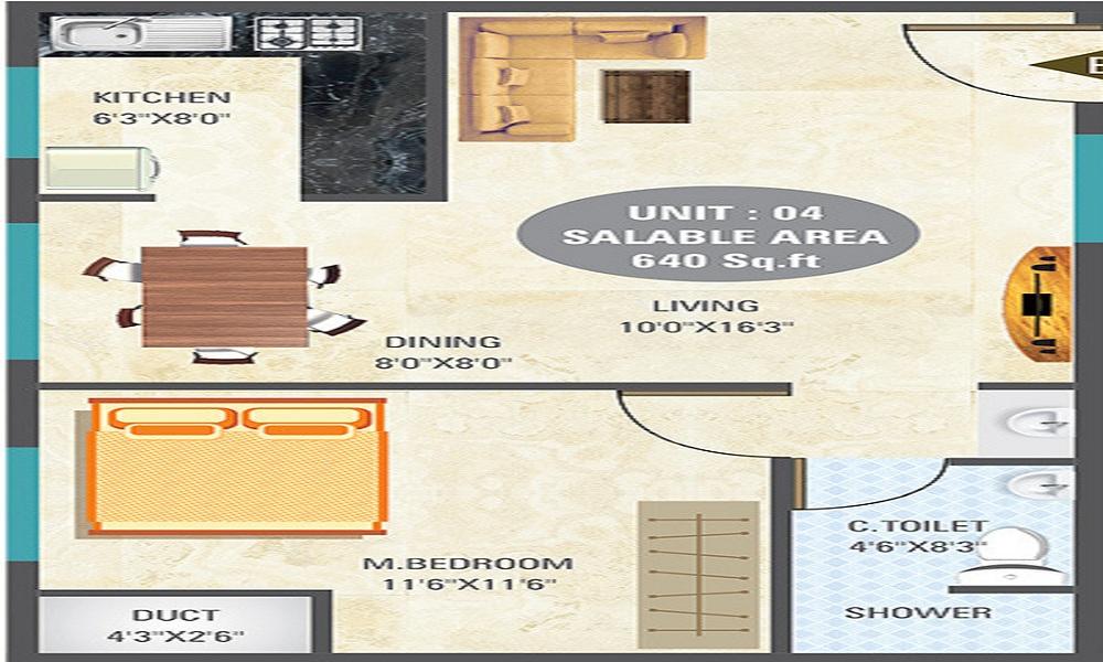 5 Elements Eshwaree Orchids Floor Plan