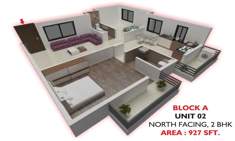 Om Shakthi Nandini Nandini Green Field Floor Plan